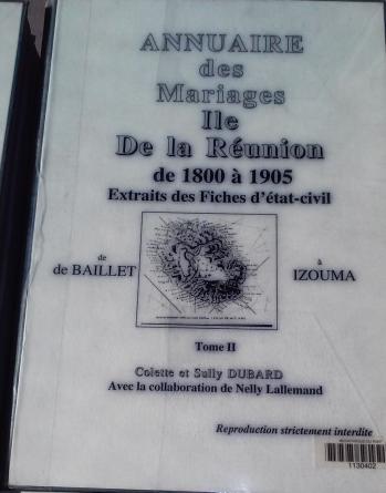 Annuaire des mariages